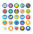 Seo and digital marketing icons 10 vector image