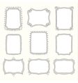 Set of doodle frames and different elements vector image