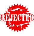 rejected rubber stamp vector image