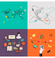 Set of icons Flat Design Mobile Phones vector image