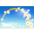 rainbow daisies vector image vector image
