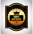 100 percent natural vector image