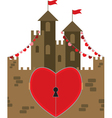castle of love vector image vector image