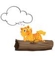 Thinking tiger vector image