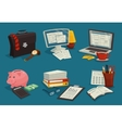 Business Cartoon Icons Set vector image