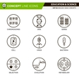 Concept Line Icons Set 4 Biology vector image