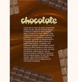 desserts and sweet products poster vector image