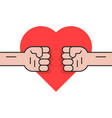 fight for love with two fists vector image