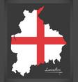 lancashire map england uk with english national vector image