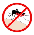 mosquito bite silhouette with drop of blood vector image