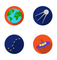 planet earth with continents and oceans flying vector image