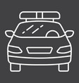 police car line icon transport and automobile vector image