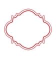 red frame elegant icon vector image