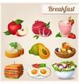 Set of different food icons Breakfast vector image