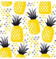 summer decorative pineapple seamless pattern vector image