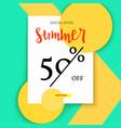 summer selling ad banner vintage text design vector image