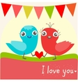 two little birds in love vector image