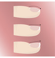 varieties of different forms and types of nail vector image