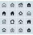 Home icons set Homepage - website or real estate vector image vector image
