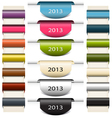 Colorful bookmarks stickers 2013 vector image vector image