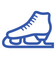blue ice skate icon vector image