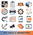 Seo Marketing pack vector image