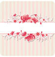 Decorative background with red flowers vector image vector image