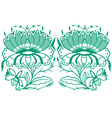 classical oriental flower set vector image