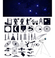 space travel design elements vector image