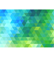 green blue triangle background vector image vector image