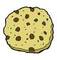 Chocolate chip cookie comic cartoon vector image