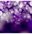 Purple bokeh background vector image
