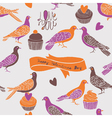 birds and cupcake love vector image vector image