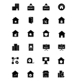 Real Estate Solid Icons 2 vector image
