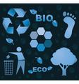 Bio icons vector image