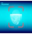 Finger print scanner vector image
