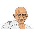 mahatma gandhi portrait vector image