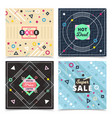 Material design concept banners vector image