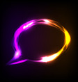 neon speech bubble vector image