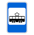 Road sign tram stop vector image
