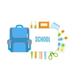 School bubbles with design vector image