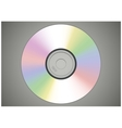 Realistic CD or DVD disk front view isolated vector image