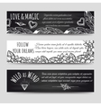 Ethnic banners with flowers and arrows vector image vector image