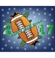 happy new year and football vector image