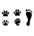 animals and man foot print clip art vector image