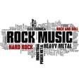 Rock Music Styles Word Cloud Bubble Tag Tree vector image