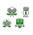 Four tennis badges and emblems vector image vector image