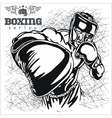 Boxing Match - Retro on grunge vector image