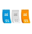 Fabric clothing labels option banner vector image