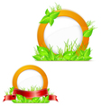 circle with green grass vector image vector image